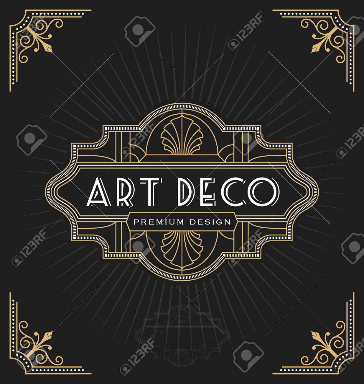 Art-Deco-Rahmen Und Label-Design Geeignet Für Luxuus Geschäft Wie ...
