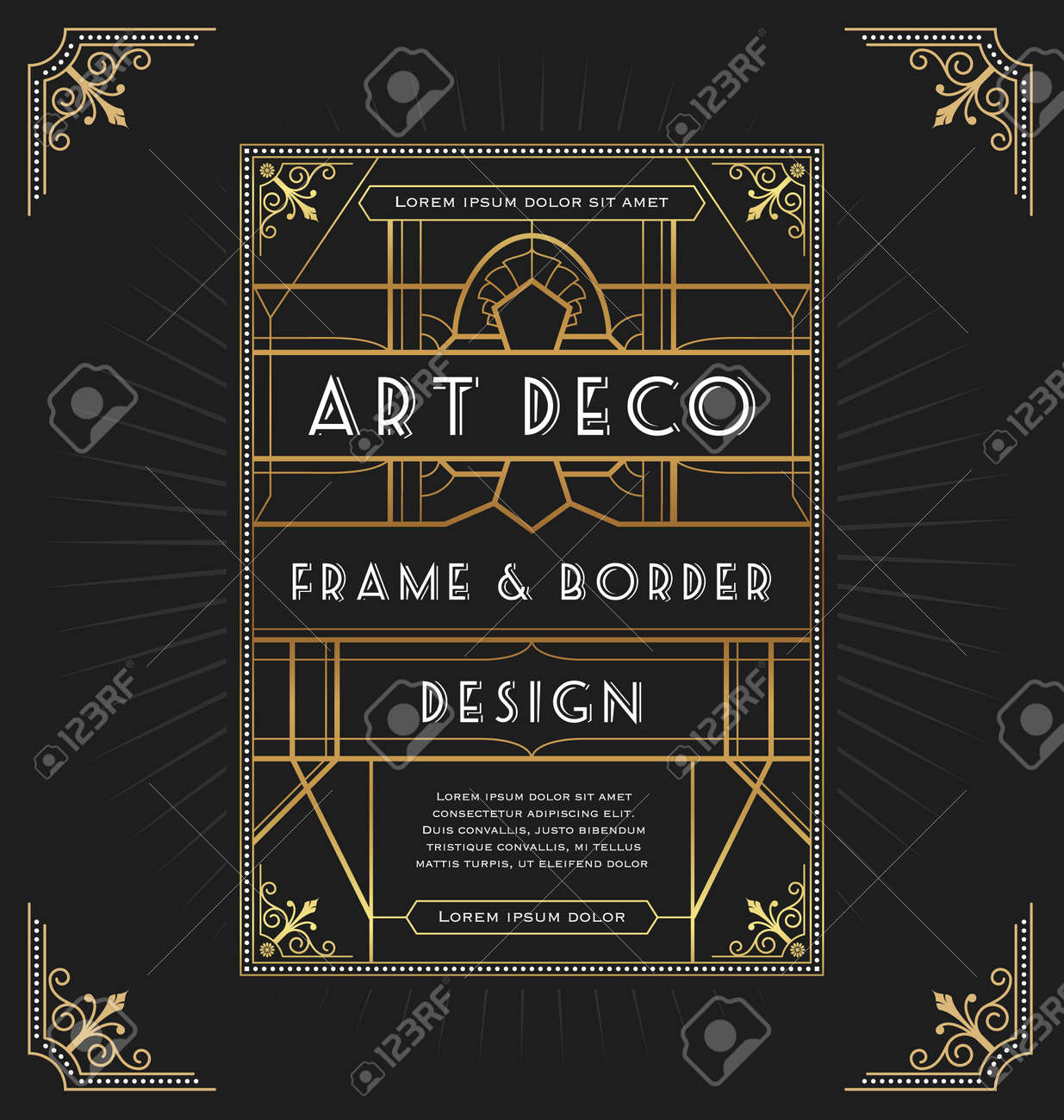 Art deco frame design for your design such as invitation print art deco frame design for your design such as invitation print banner vector stopboris Image collections