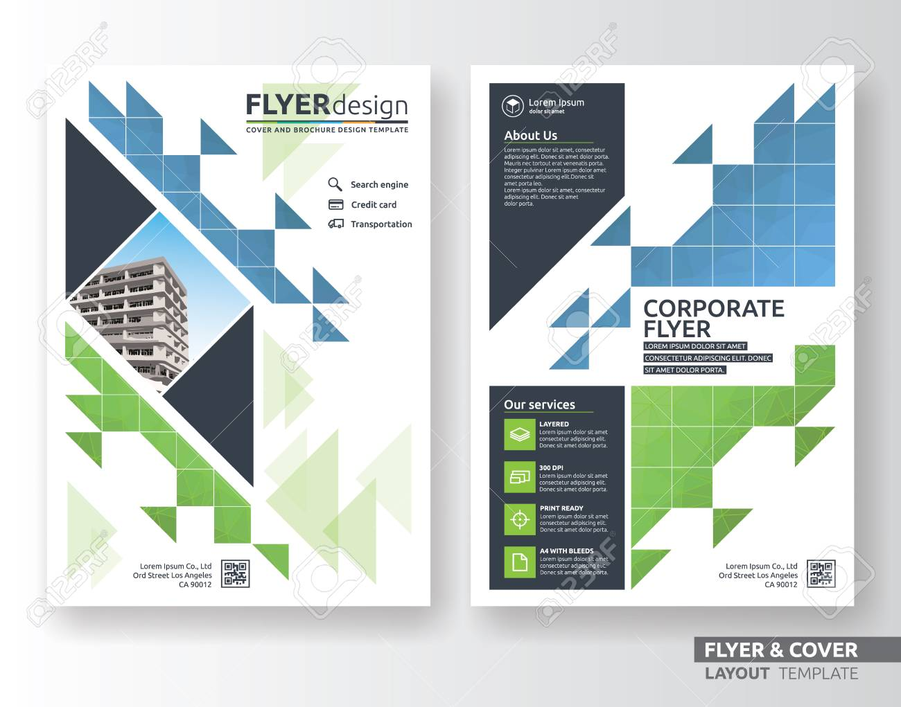 free color flyer paper layouts - Heart.impulsar.co