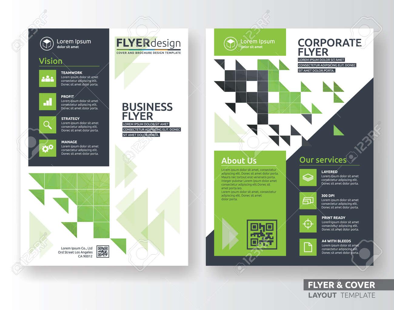 multipurpose corporate business flyer layout design suitable