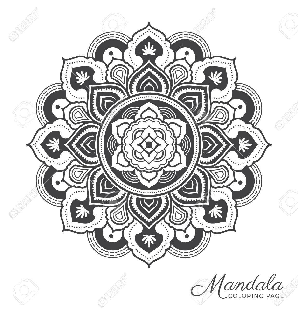 Tibetan Mandala Dekorativen Ornament Design Für Erwachsene ...