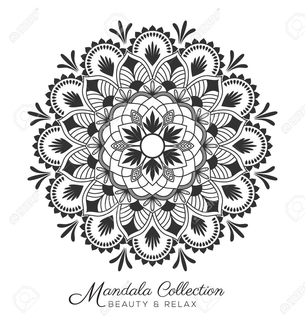 tibetan mandala decorative ornament design for coloring page