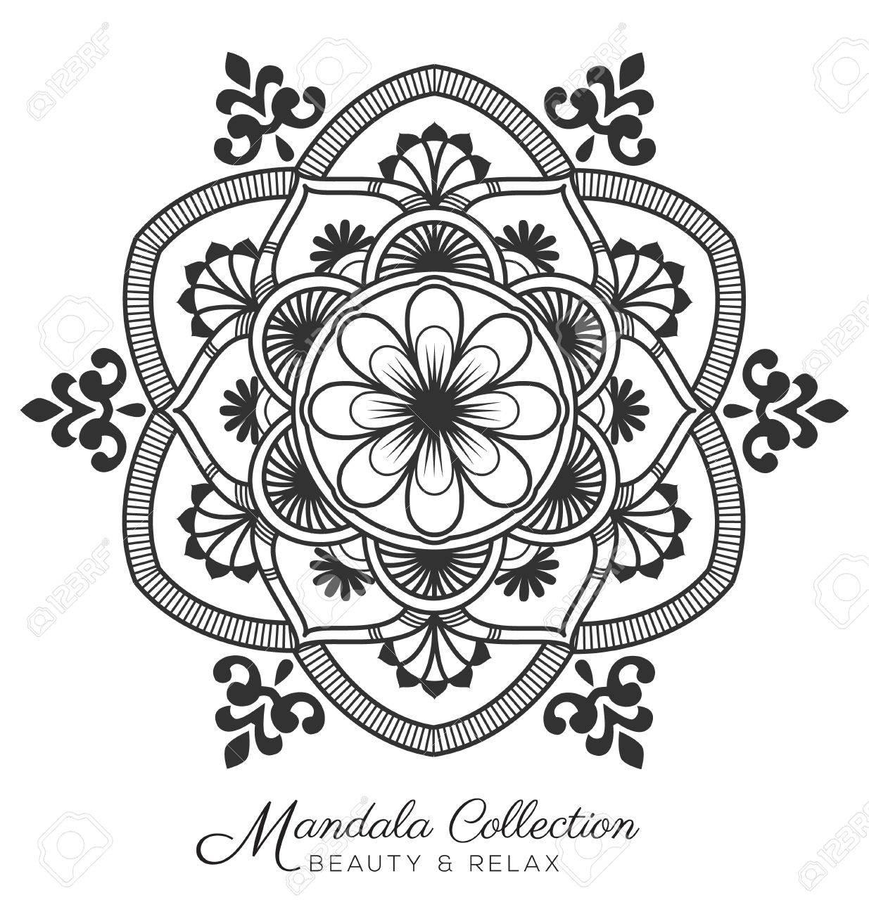 Mandala Diseño De Ornamento Decorativo Tibetano Por Página Para ...