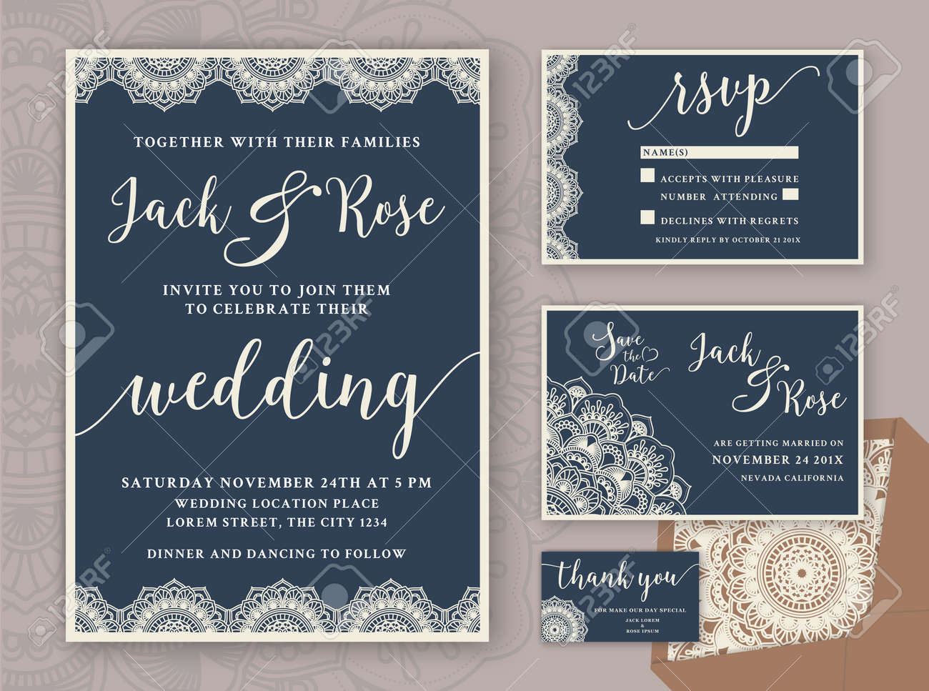 Rustic wedding invitation design template include rsvp card rustic wedding invitation design template include rsvp card save the date card thank stopboris Gallery