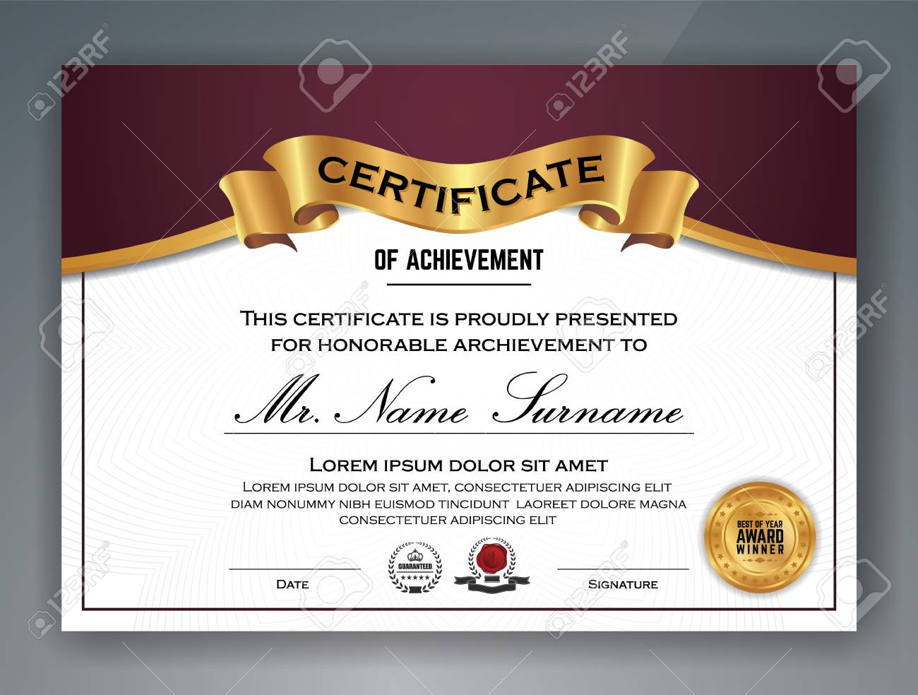 Multipurpose professional certificate template design for print multipurpose professional certificate template design for print vector illustration stock vector 78661151 yadclub Images