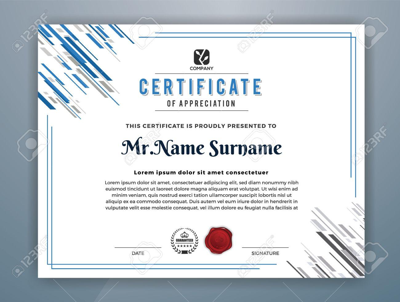 Multipurpose Modern Professional Certificate Template Design – Free Professional Certificate Templates