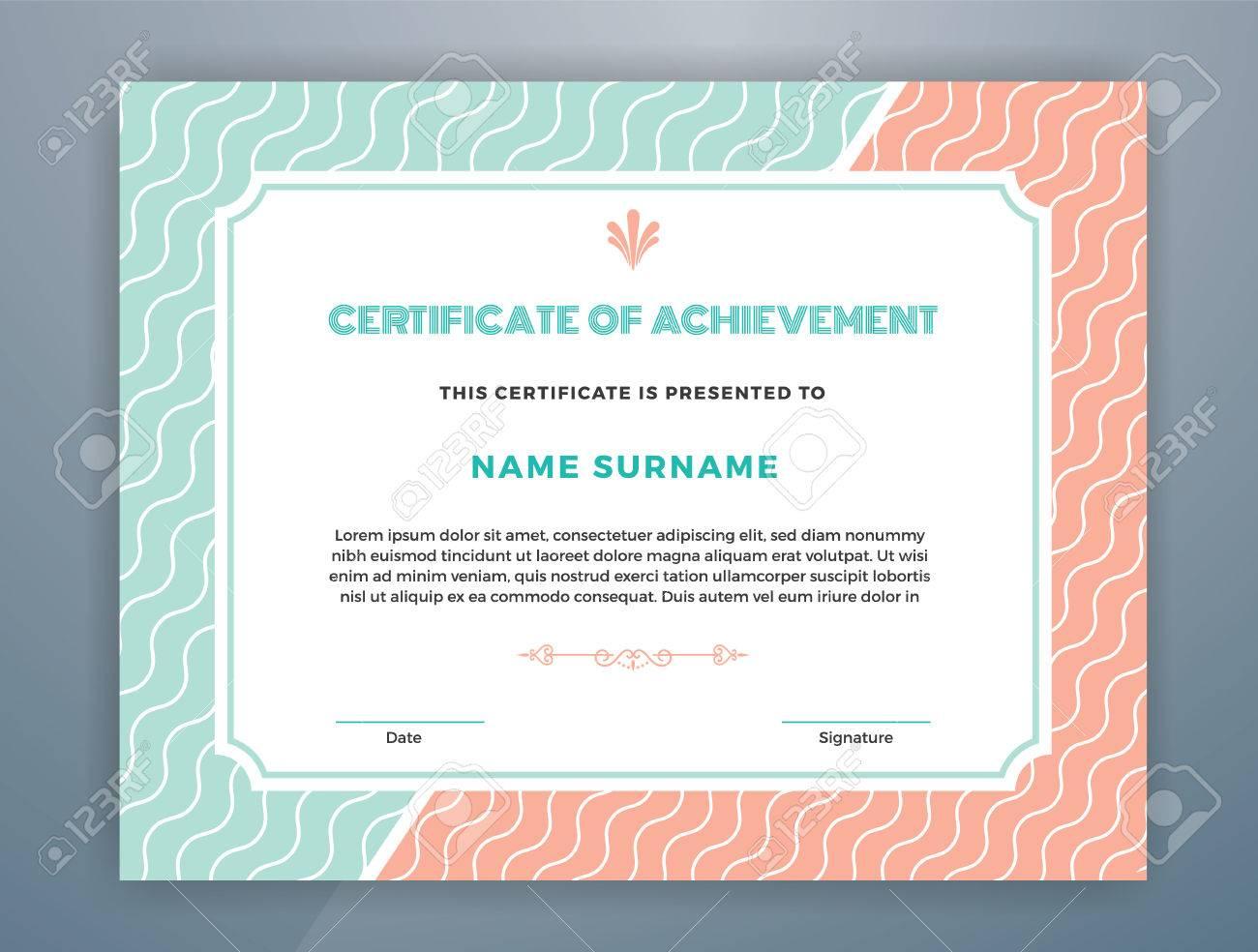 Multipurpose Modern Professional Certificate Template Design