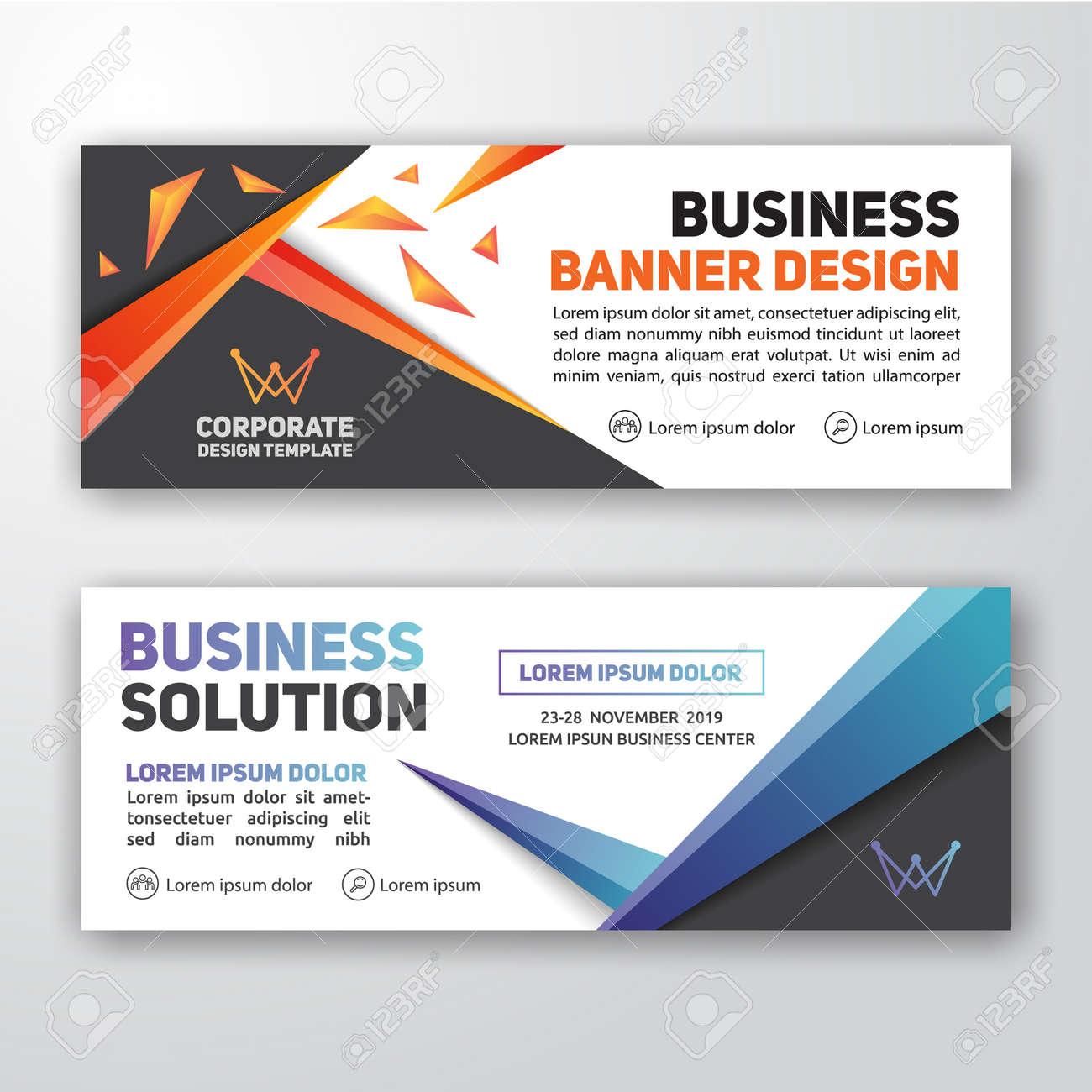 modern corporate banner background design for letterhead document
