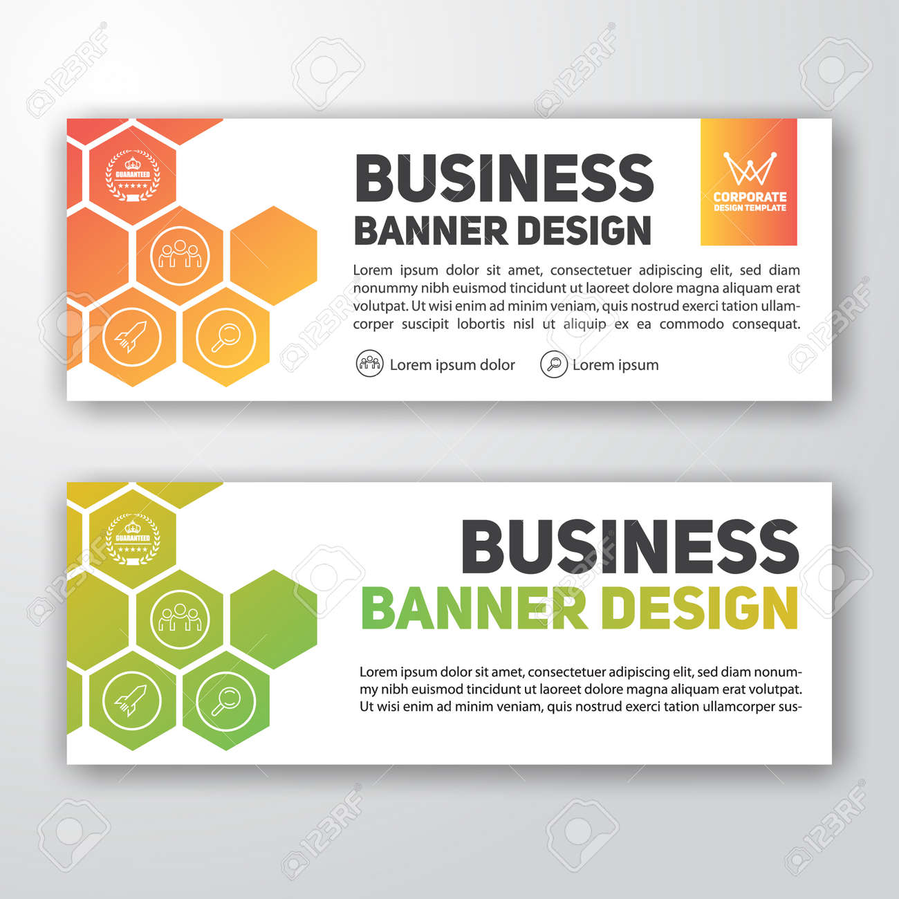 Modern corporate banner design for letterhead and web banner modern corporate banner design for letterhead and web banner stock vector 84399493 spiritdancerdesigns Image collections