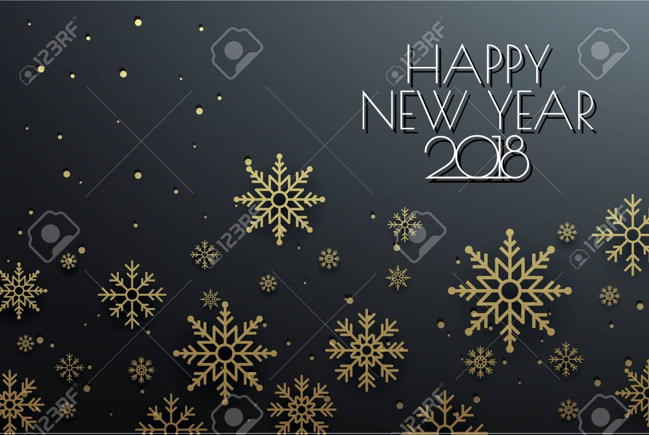 happy new year 2018 banner stock vector 91342150