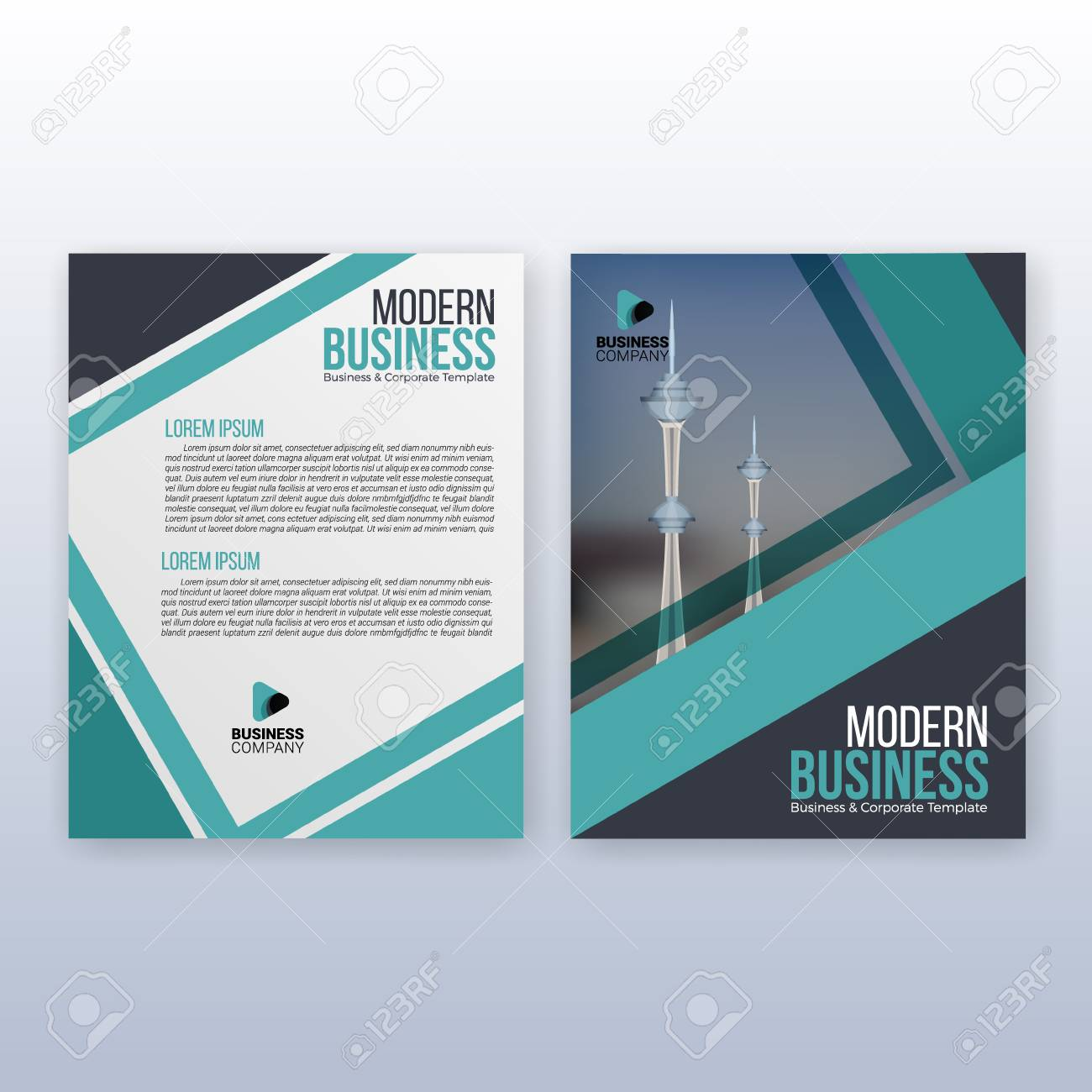 modern business cover and flyer template multipurpose flyer stock