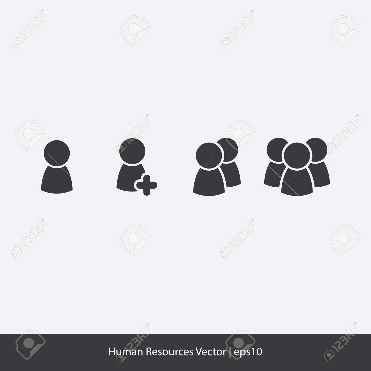 Human Resources Icons Stock Vector - 20332049