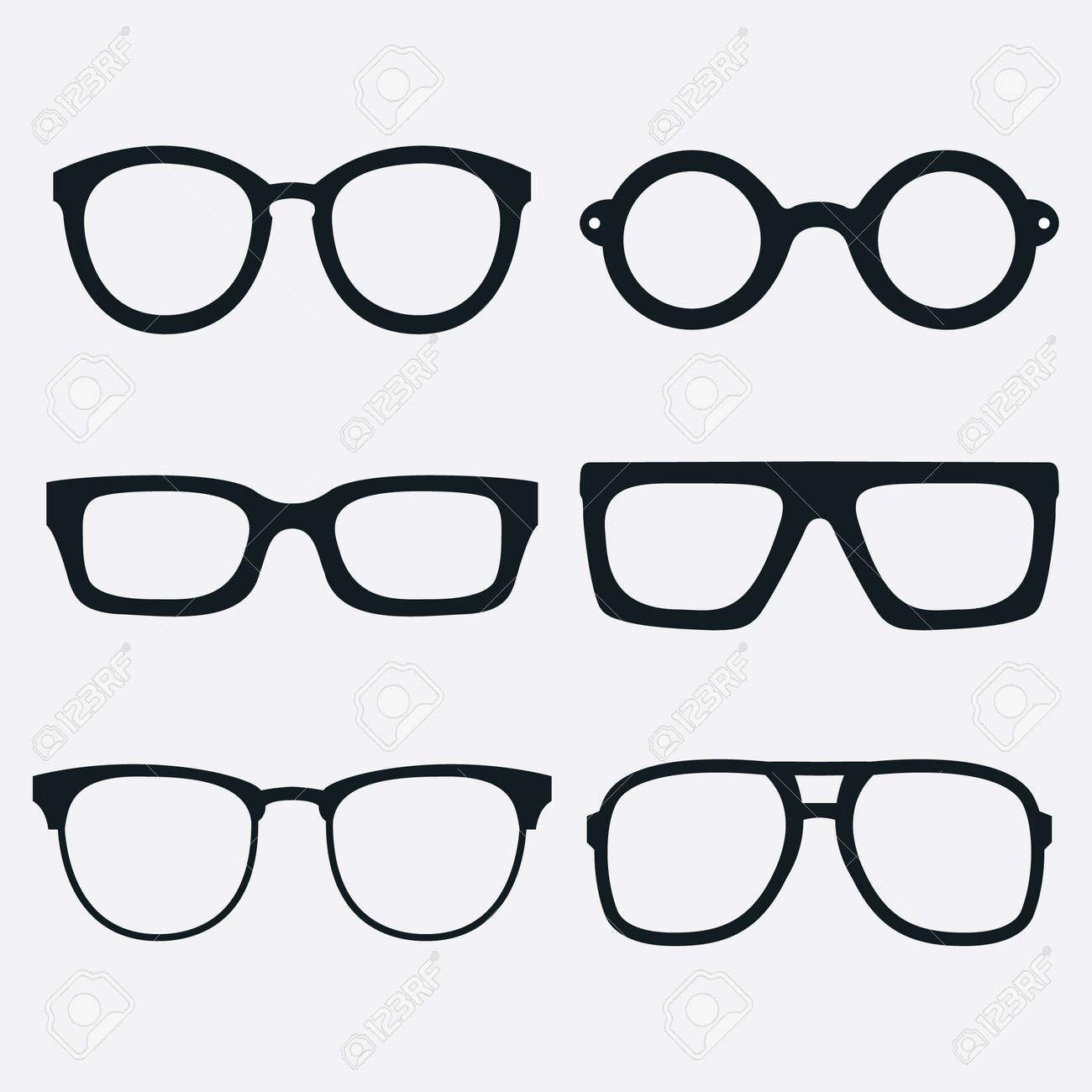 5b11899b53 Set of glasses frames royalty free cliparts vectors and stock jpg 1300x1300 Glasses  frames vector