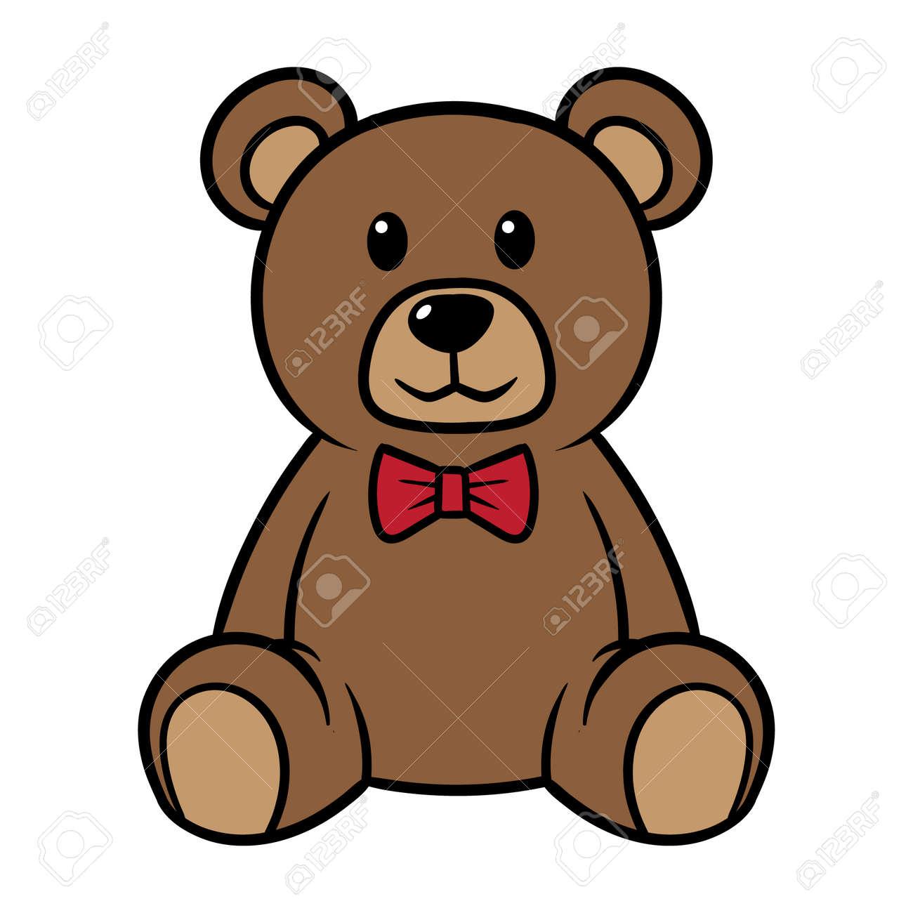 cartoon teddy bear vector illustration royalty free cliparts rh 123rf com teddy bear vector icon teddy bear vector silhouette