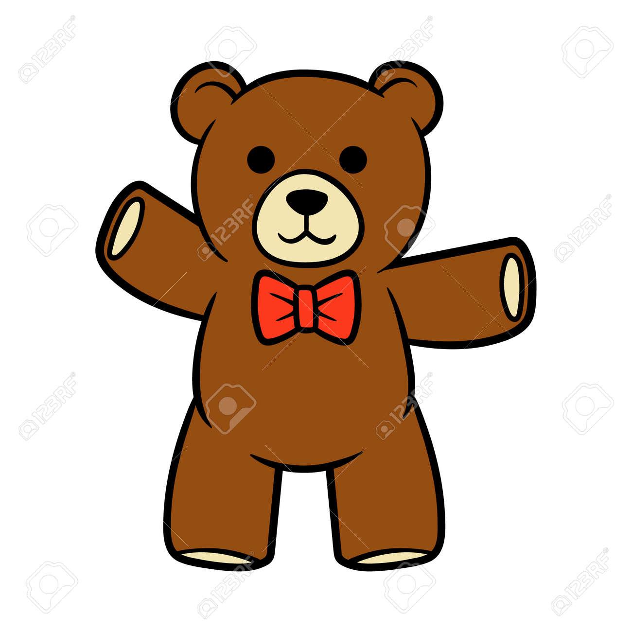 cartoon teddy bear vector illustration royalty free cliparts rh 123rf com teddy bear vector icon teddy bear vector icon