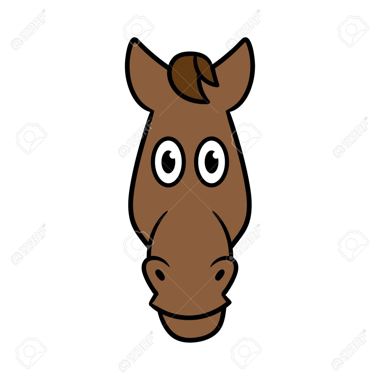 Cartoon Horse Head Illustration Royalty Free Cliparts Vectors And Stock Illustration Image 72412712