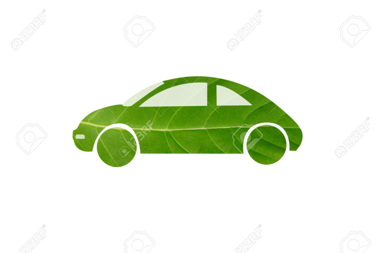 Green car from leaf Stock Photo - 14894932