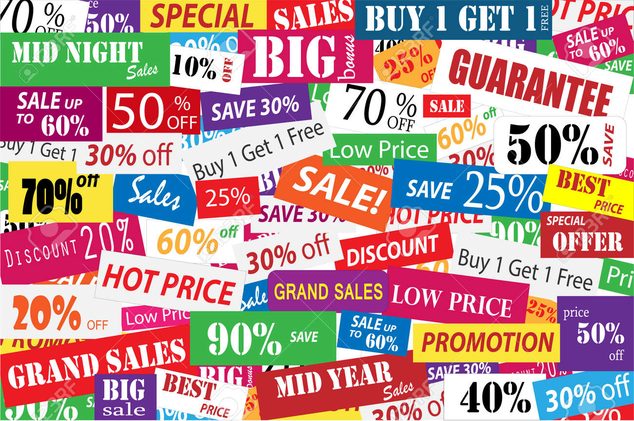 Sales Promotion For Big Discount In Marketing And Business Concept Royalty  Free Cliparts, Vectors, And Stock Illustration. Image 34334517.