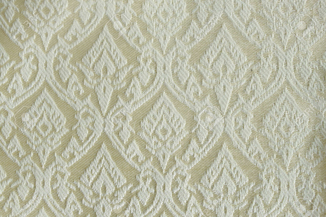pattern of thai hand made fabric.made popular in the country of thailand. Stock Photo - 10780347