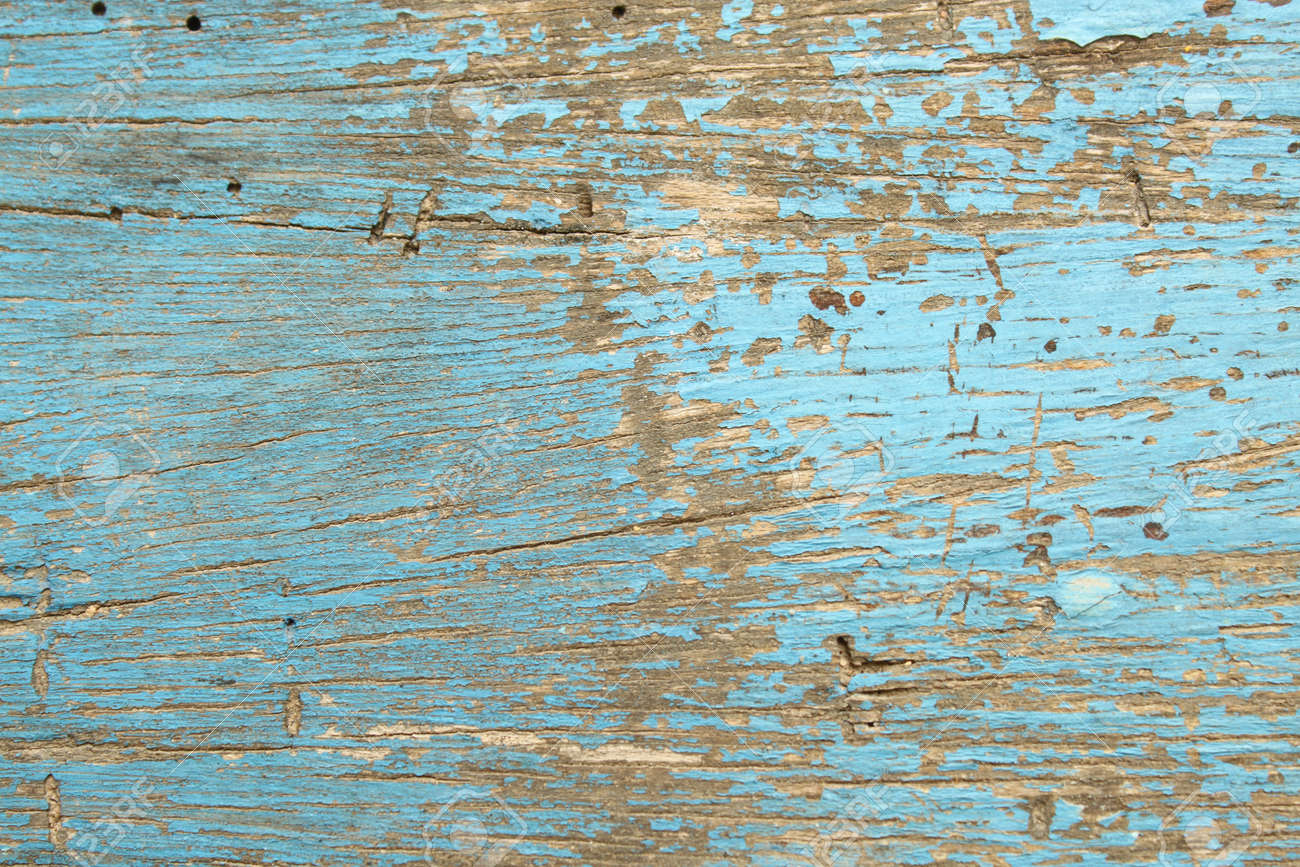 Blue Wood Boards Wooden Texture Scratched Cracked Peeling Paint