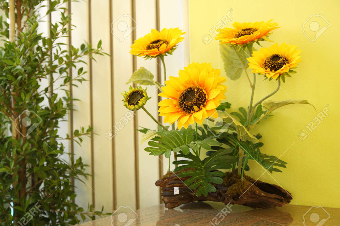 sunflower in room Stock Photo - 13714087