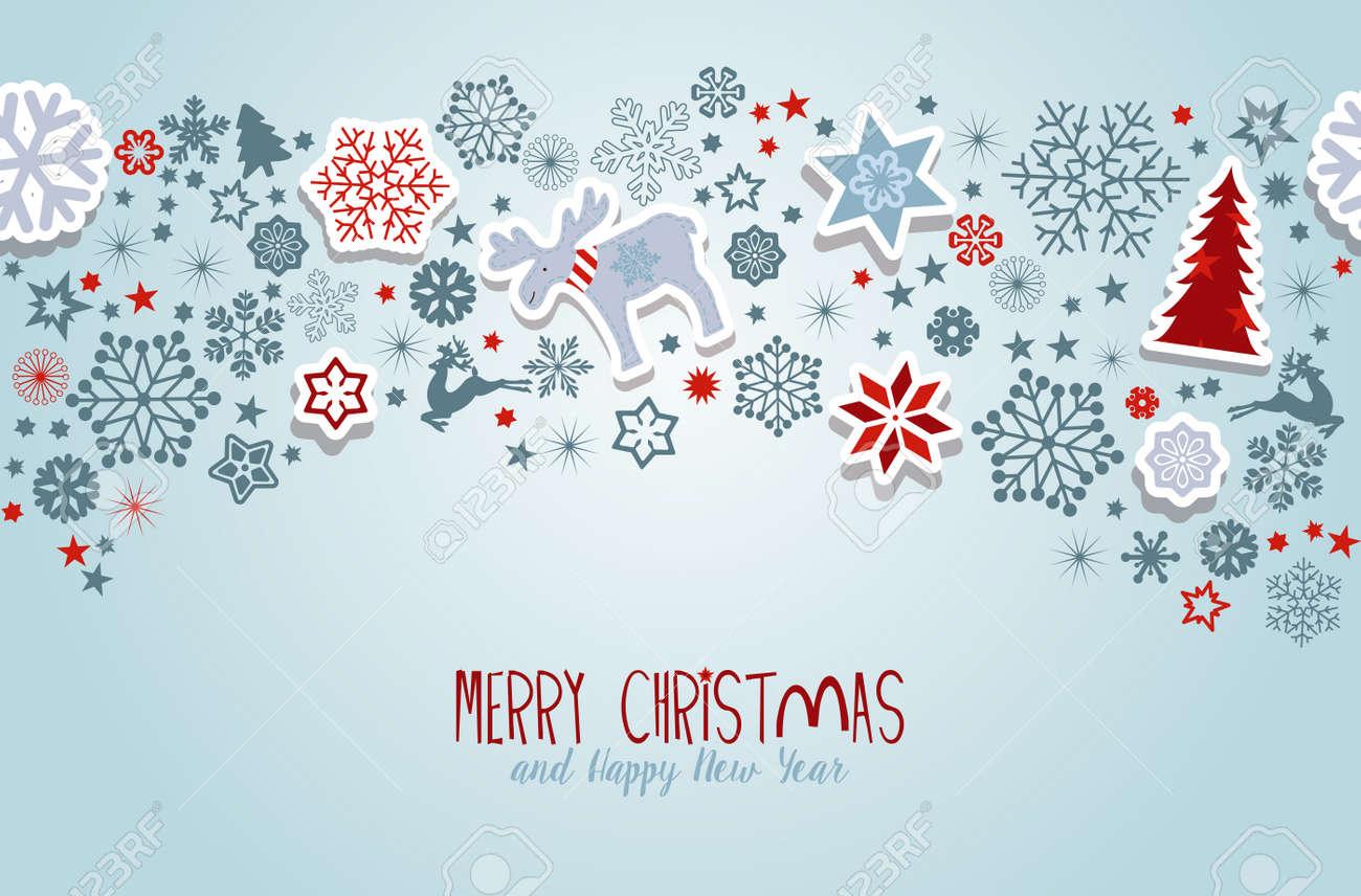 Christmas Vectors.Merry Christmas Blue Christmas Vector Elements