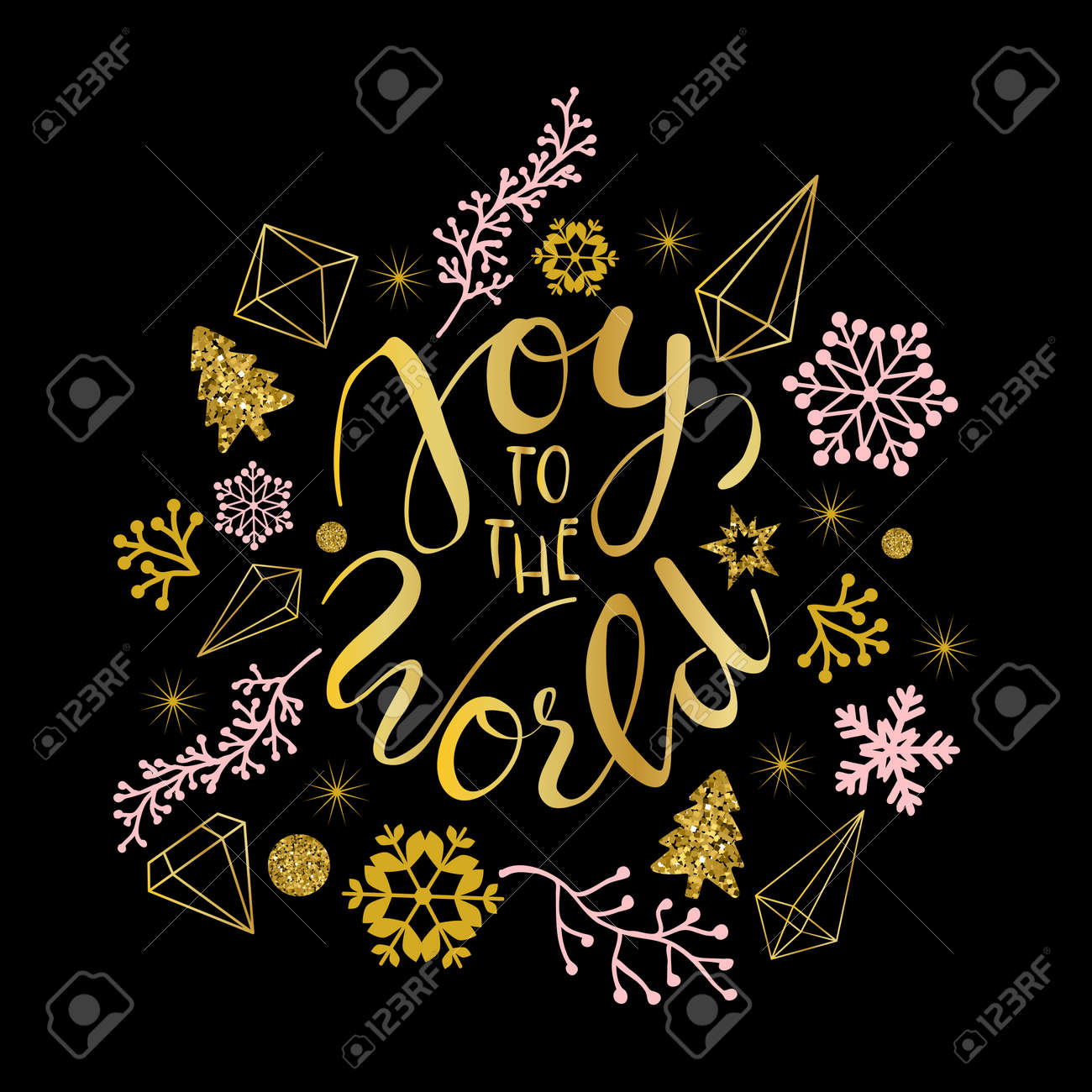 Joy to the world greetings in calligraphic type illustration joy to the world greetings in calligraphic type illustration banco de imagens 84949396 kristyandbryce Gallery