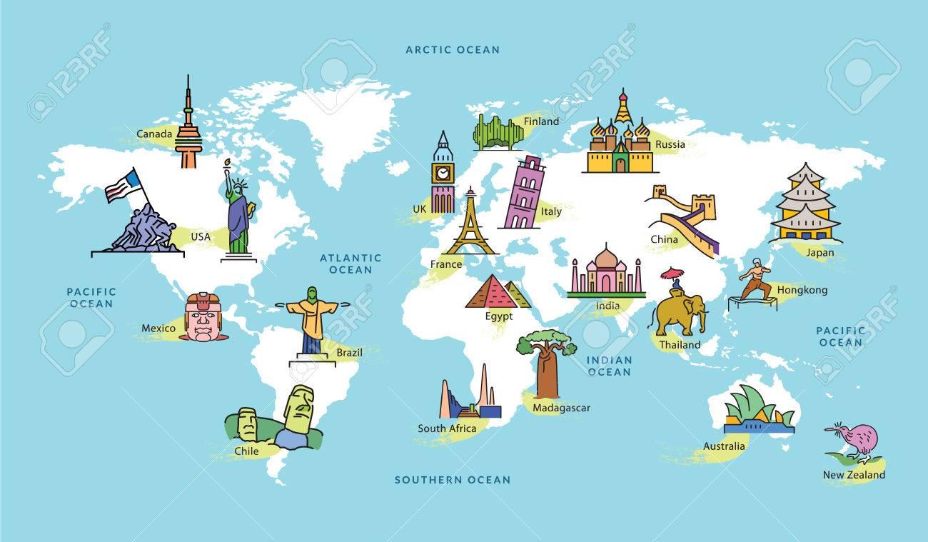 Australia Map Landmarks.Map Of Australia Landmarks