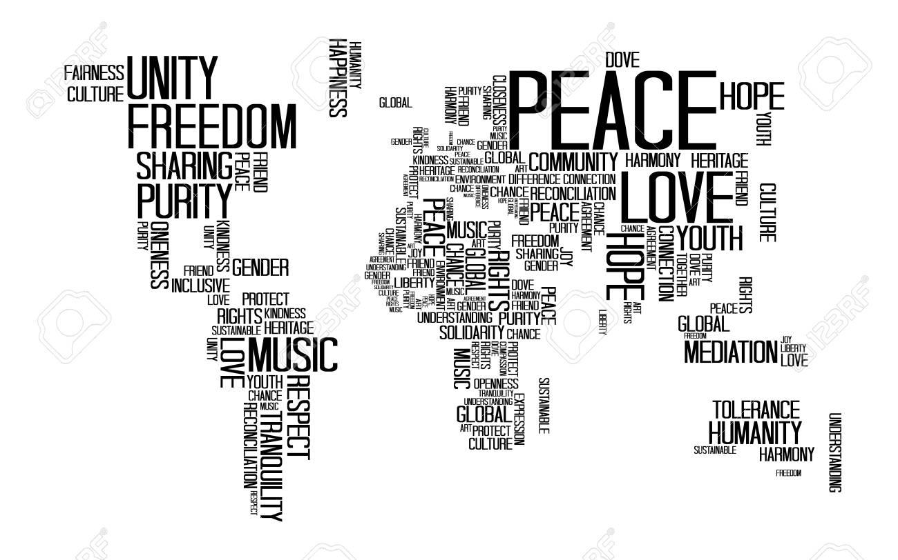 Concepto De Paz, Texto O Tipografía Con Fraseología De Amor ...