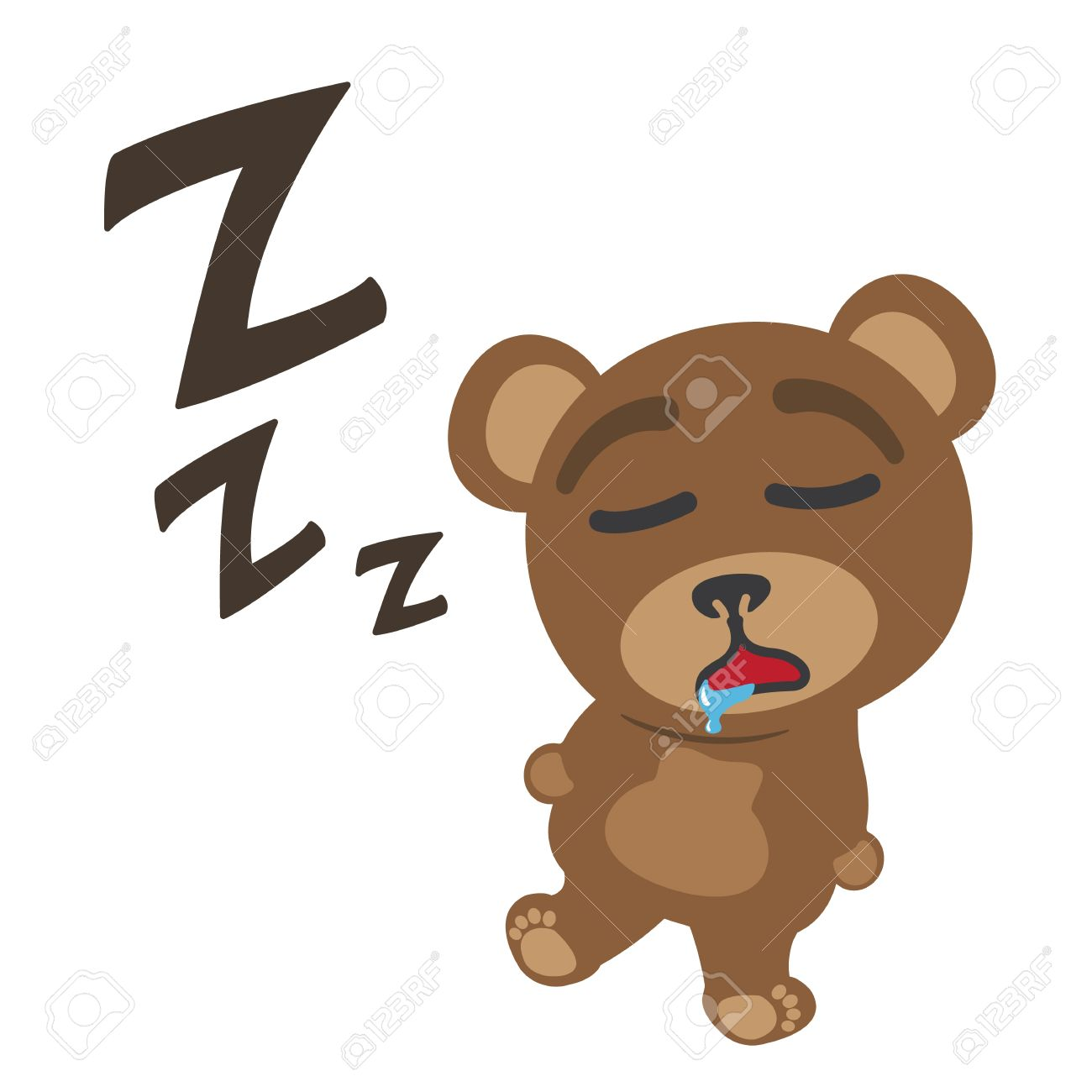 little bear sleeping royalty free cliparts vectors and stock