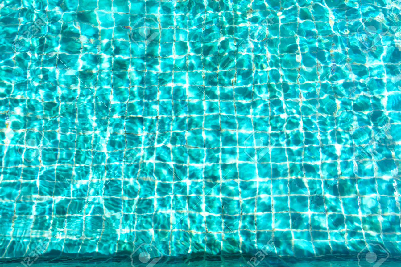 pool water background. Stock Photo - Swimming Pool Water Sun Reflection On Background