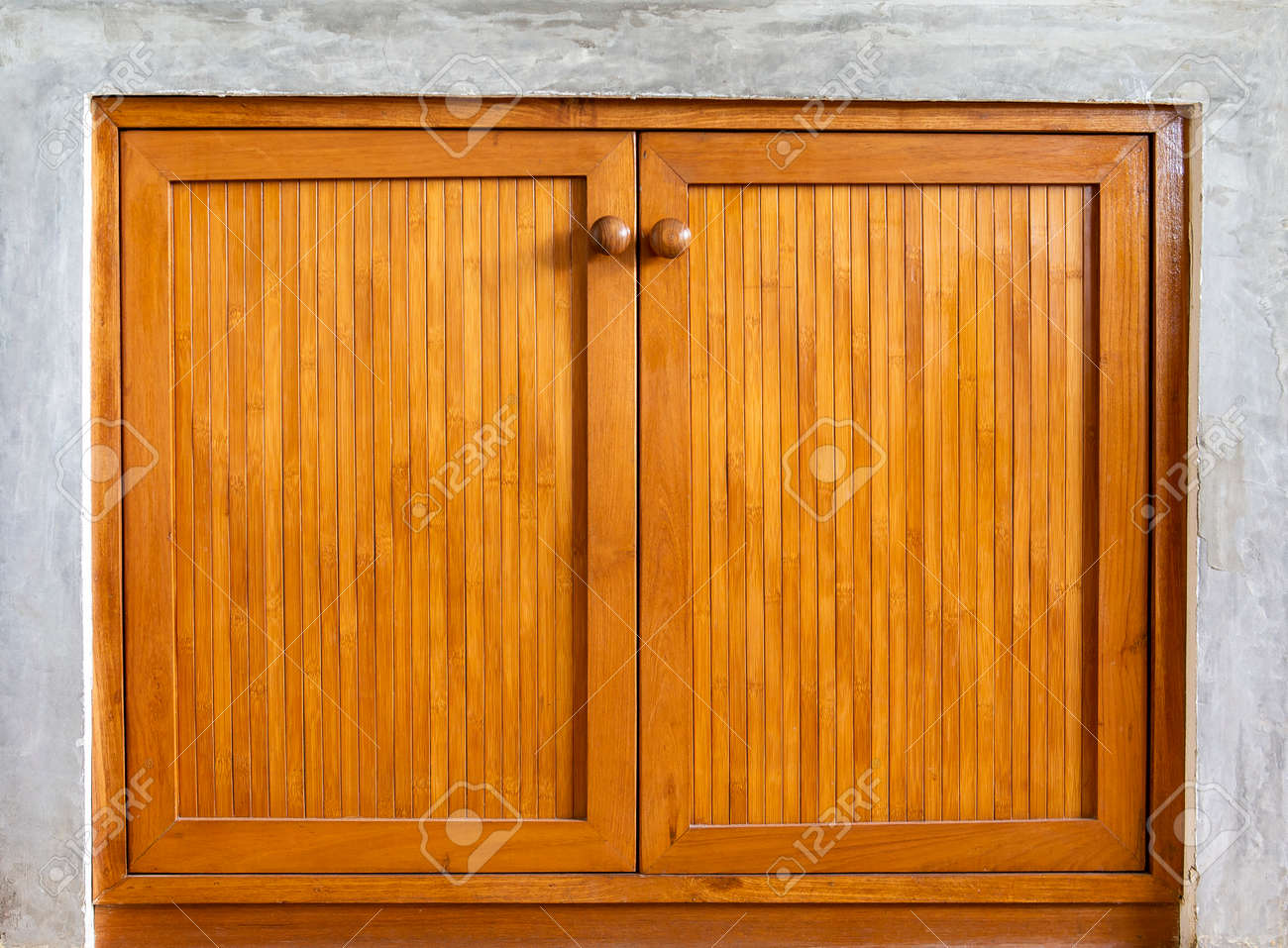 Bamboo Wood Design Door Background Wooden Window With Cement Stock Photo Picture And Royalty Free Image Image 102686042