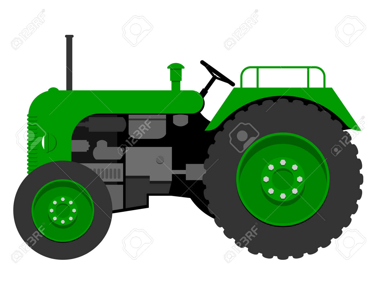 Old tractor Stock Vector - 4479459
