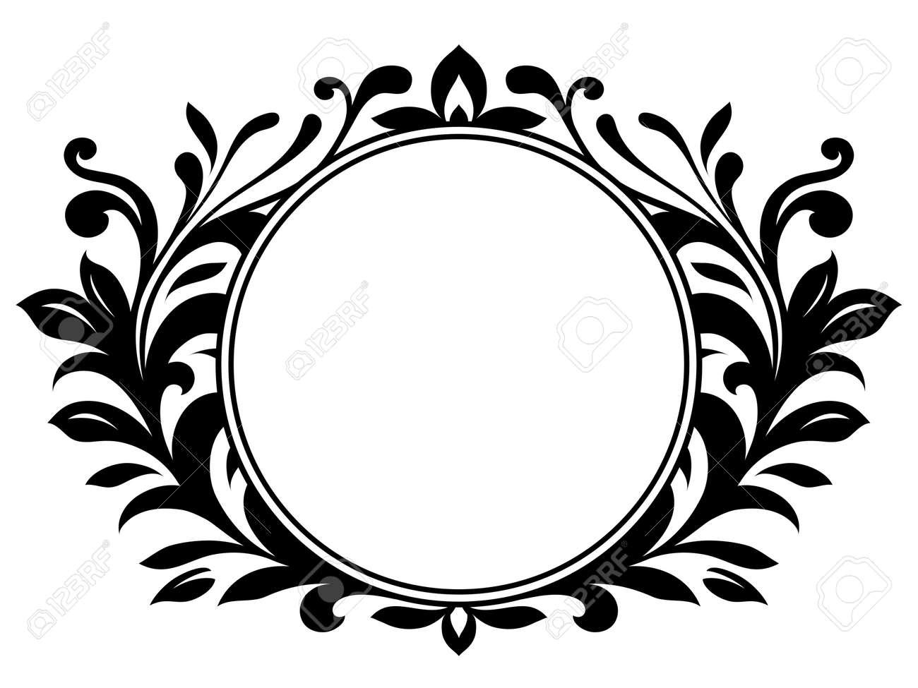 Ornamental wreath with blank sign Stock Vector - 4504681