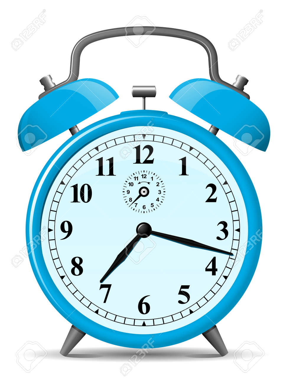 Image result for blue alarm clock clip art