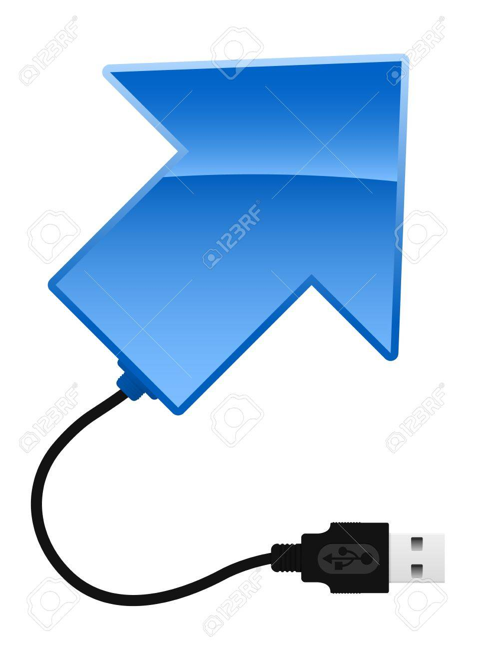 Arrow with USB cable Stock Vector - 4794758