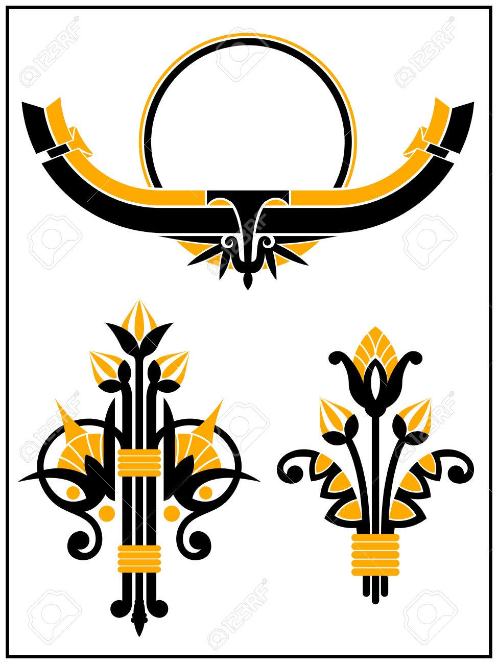 Art Deco Design Elements art deco design elements collection royalty free cliparts, vectors