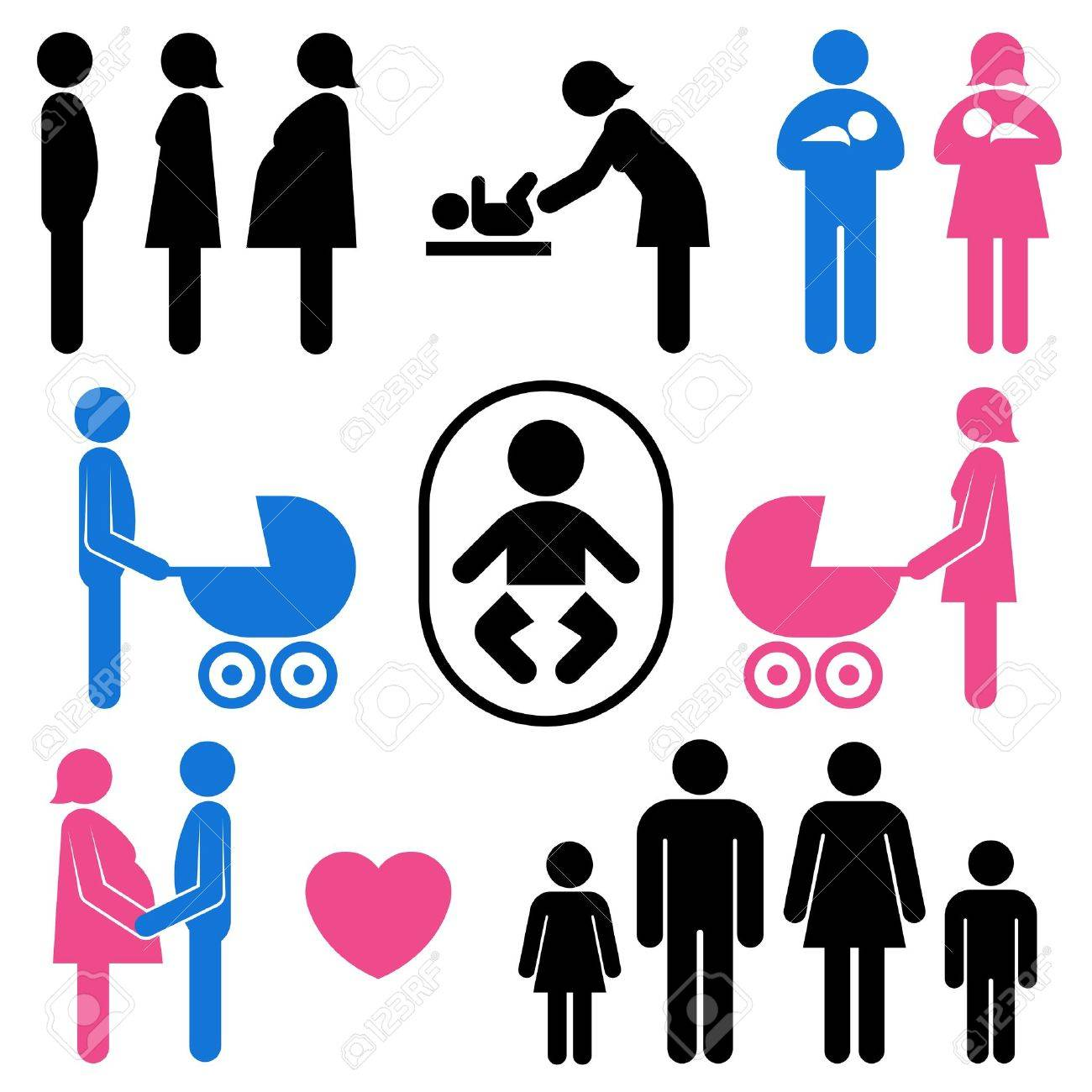family and baby icon set Stock Vector - 10028008