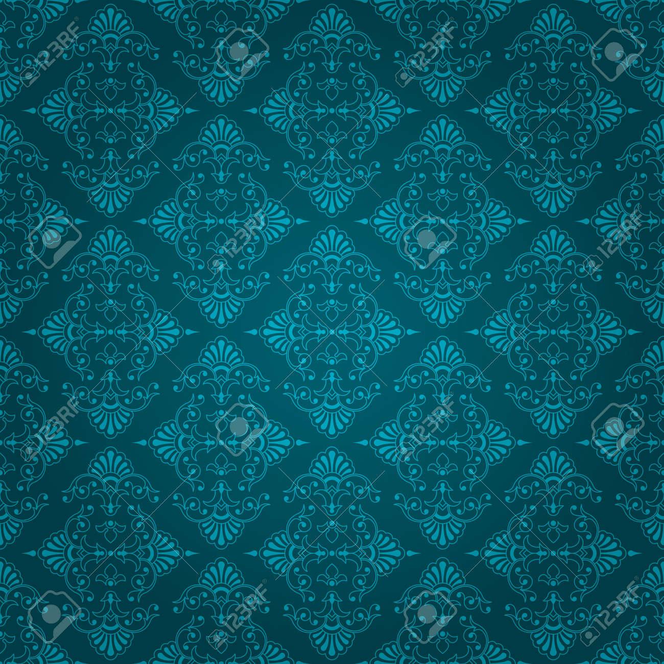 Good Wallpaper Dark Teal - 17981869-beautiful-dark-bluey-green-seamless-vintage-wallpaper-design-with-floral-element  HD_621641 .jpg
