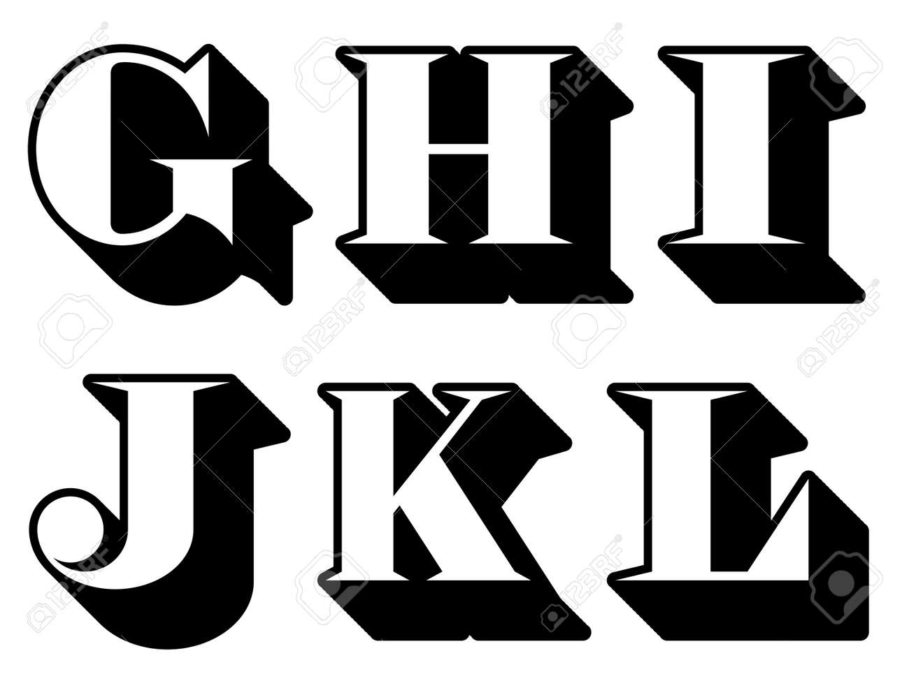 Uppercase Letter I Alphabet letters serif in