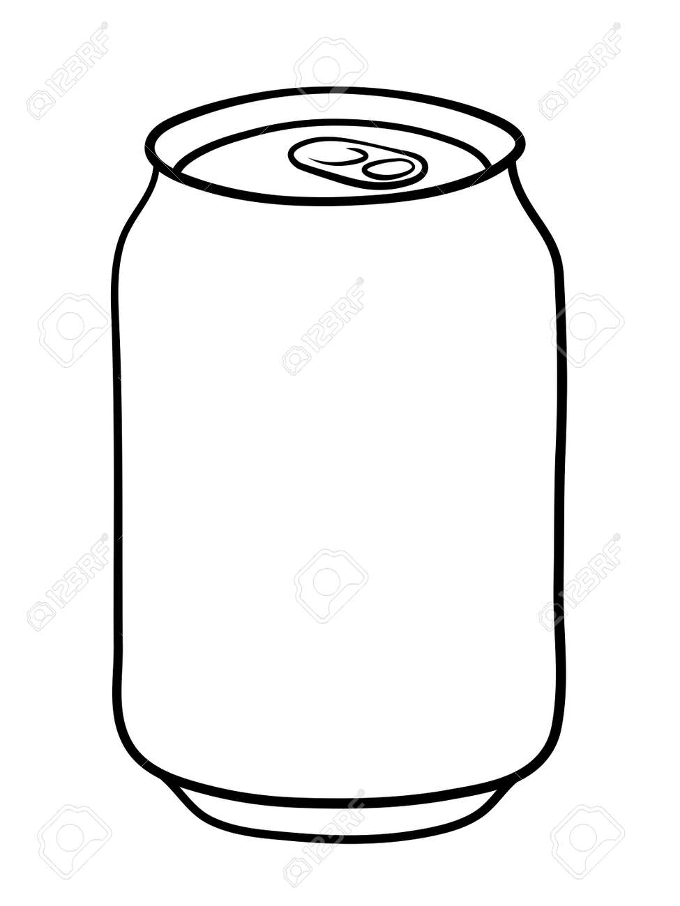 soda can doodle illustration in black and white royalty free rh 123rf com soda can clipart soda can pictures clip art