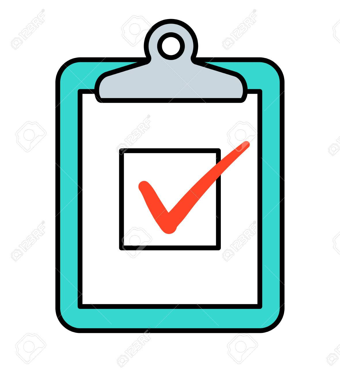 checkbox with red check marks on clipboard vector icon royalty free rh 123rf com clipboard vector icon clipboard vector free download