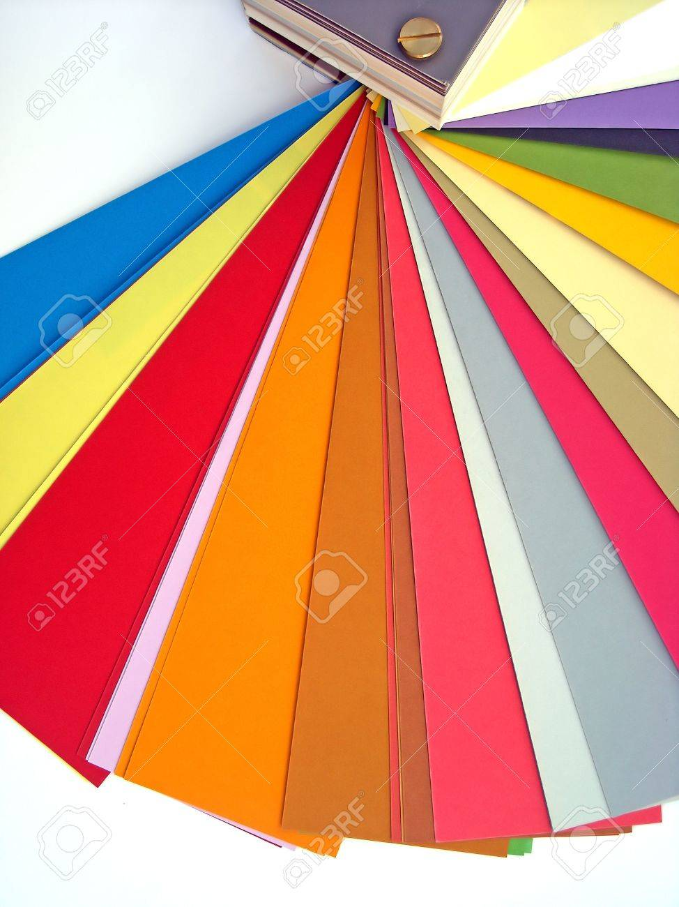 Color printing paper - Paper Color Chart Background Different Weights And Colors Of Printing Paper Stock Photo