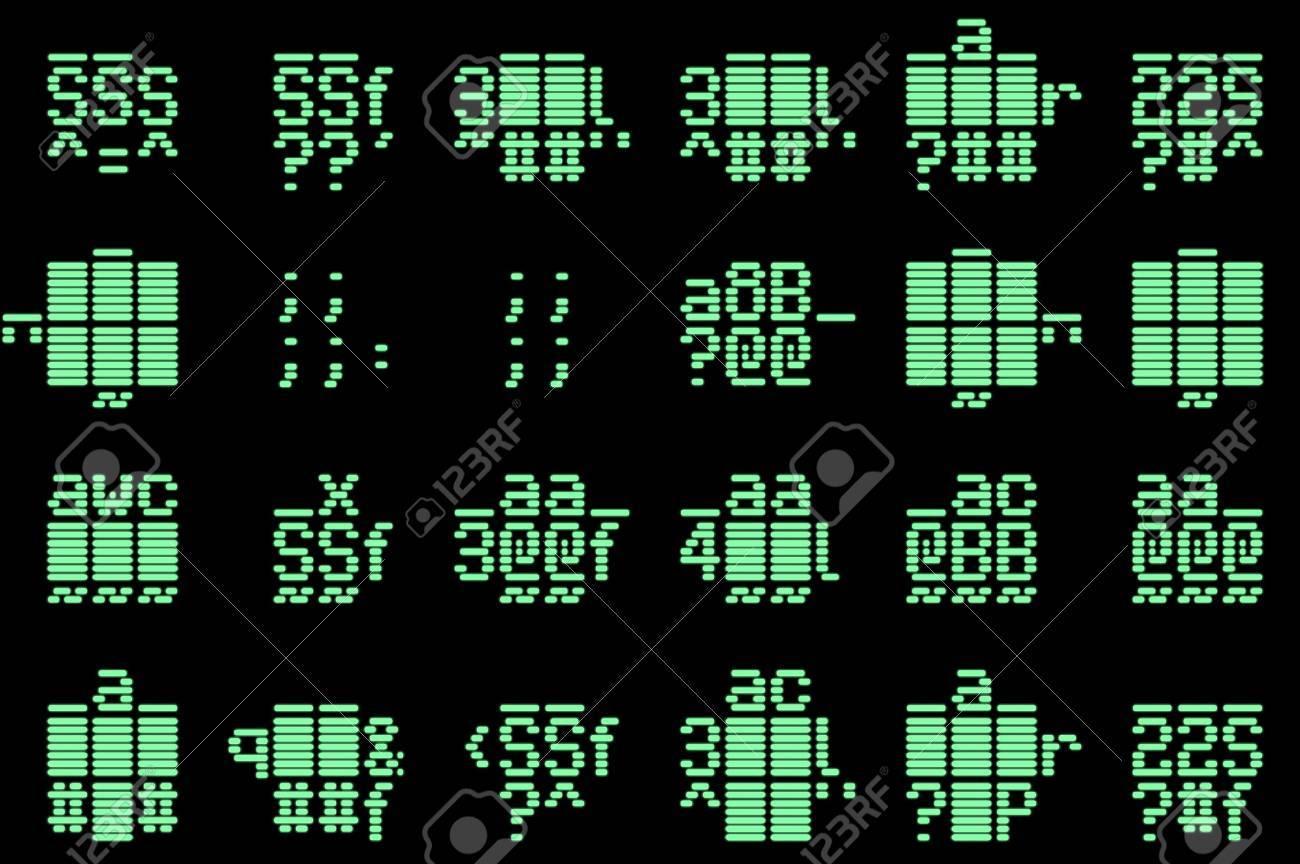 Computer data code illustration. Abstract technology background pattern. Stock Illustration - 3216662