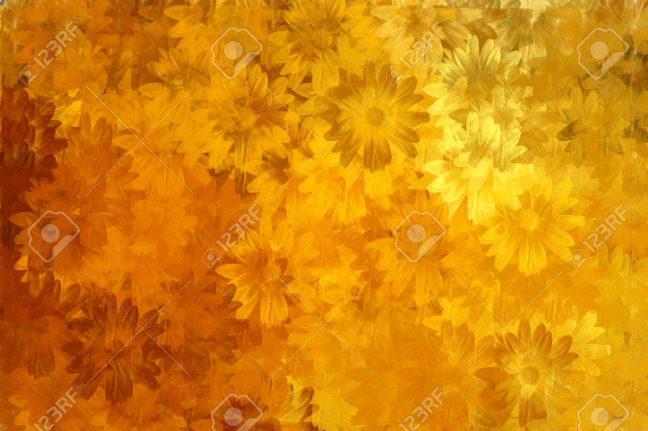 Abstract floral background paint pattern. Digitally created illustration. Stock Illustration - 5379508