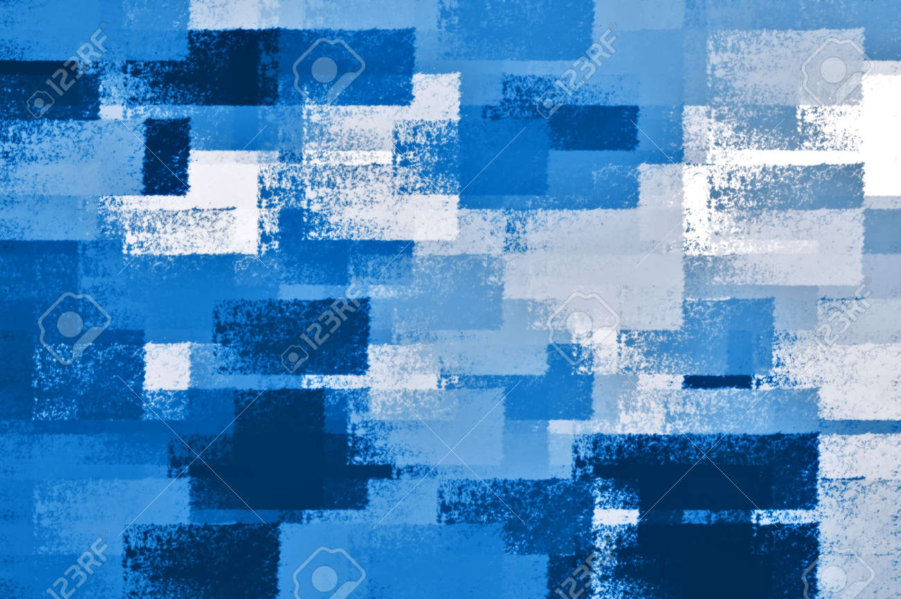 Abstract chalk strokes background illustration. Shades of blue. Stock Illustration - 5927007