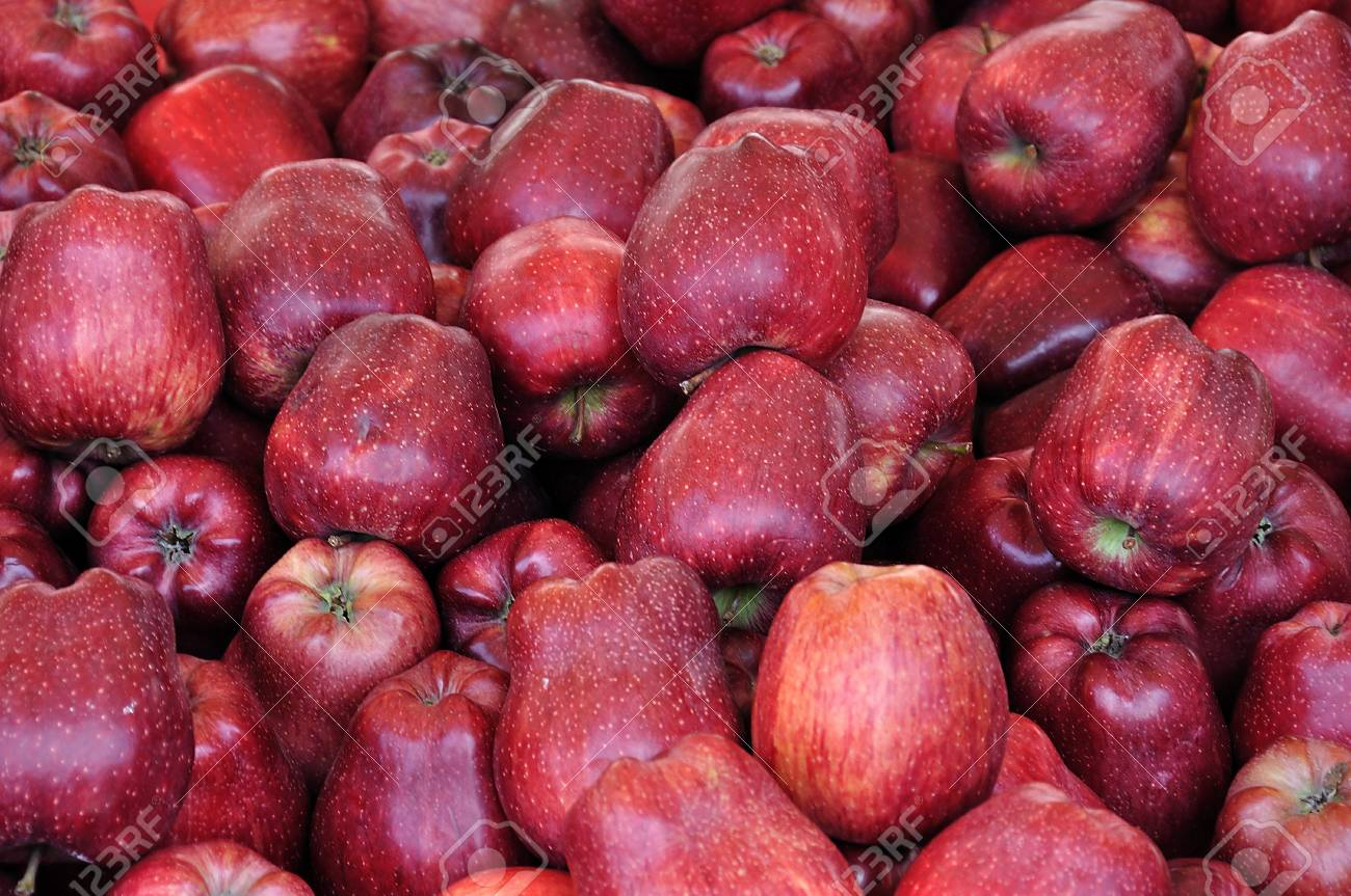 Red apples for sale at grocery store. Fruit background. Stock Photo - 9609441