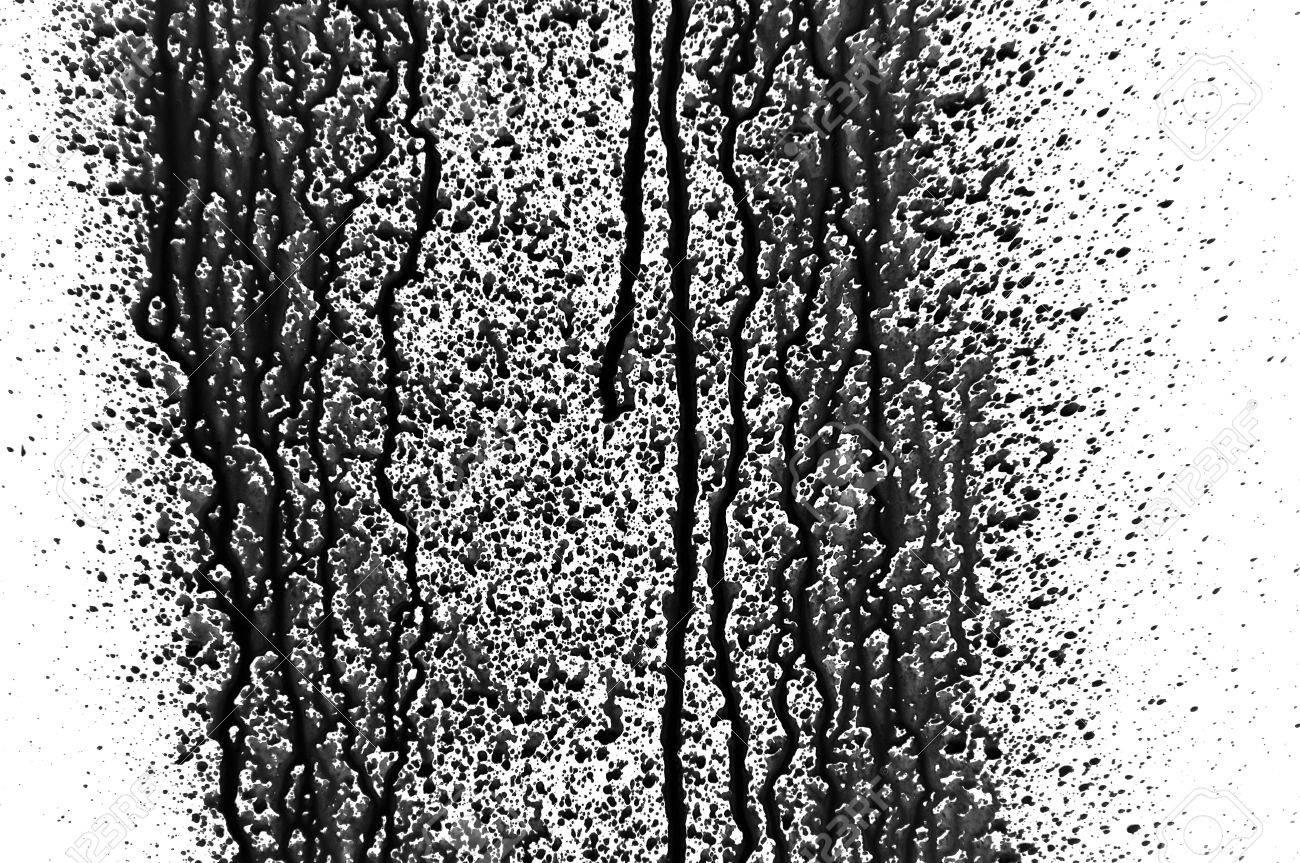 Black paint splashed over white background. Design element. Stock Photo - 13547487