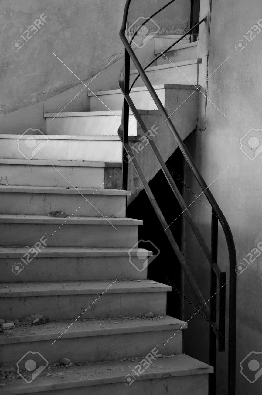 Dirty Marble Staircase In Abandoned Interior Architectural Detail Stock Photo Picture And Royalty Free Image Image 17932479