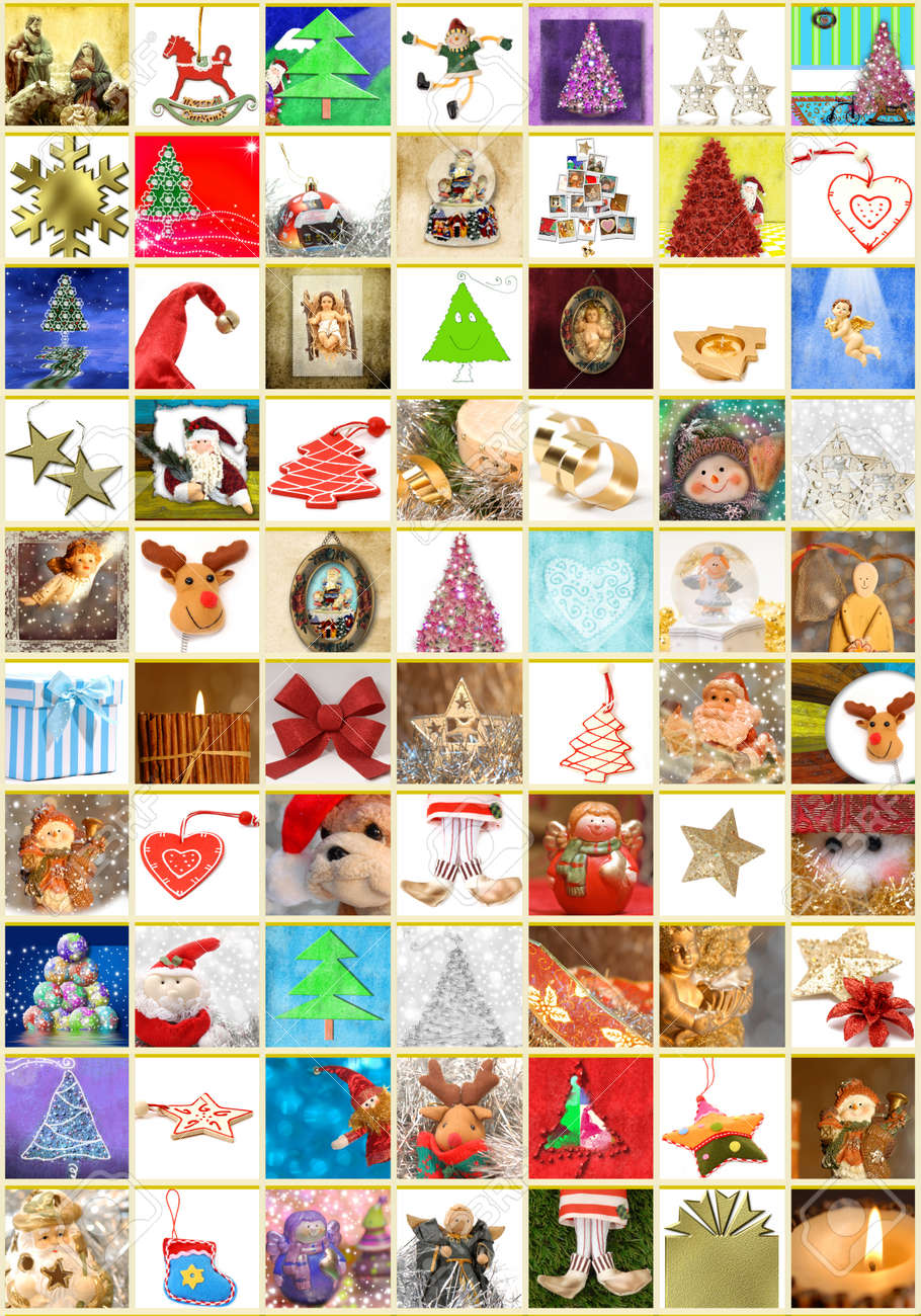 Christmas greeting cards collage portrait of 70 different christmas christmas greeting cards collage portrait of 70 different christmas themes stock photo 11154357 kristyandbryce Image collections